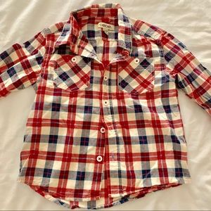 Boys Red, White and Blue Button Down